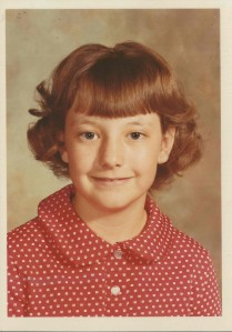 A perm was the answer for a little girl with stick-straight hair. And what's up (unfortunately way up) with my bangs?