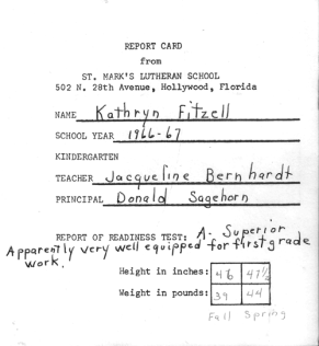 WitLoveKath - Examined Life - kindergarten report card jen's version II