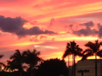 Hollywood, Florida may be weird, but it does have beautiful autumn sunsets